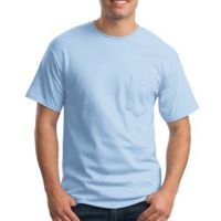 Tagless ® 100% Cotton T Shirt with Pocket Thumbnail