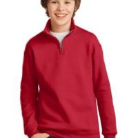 Youth NuBlend ® 1/4 Zip Cadet Collar Sweatshirt Thumbnail