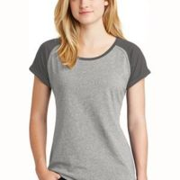 ® Ladies Heritage Blend Varsity Tee Thumbnail