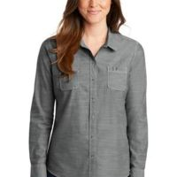 Ladies Slub Chambray Shirt Thumbnail