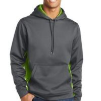 DP - Sport Wick ® CamoHex Fleece Colorblock Hooded Pullover Thumbnail